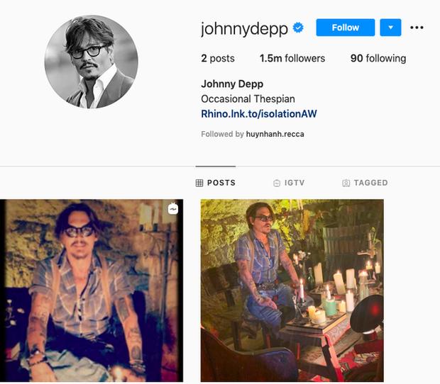 Johnny Depp tức tốc lập Instagram sau ồn ào Amber Heard bị lộ bằng chứng dẫn trai về nhà, còn chần chờ gì mà không follow? - Ảnh 1.