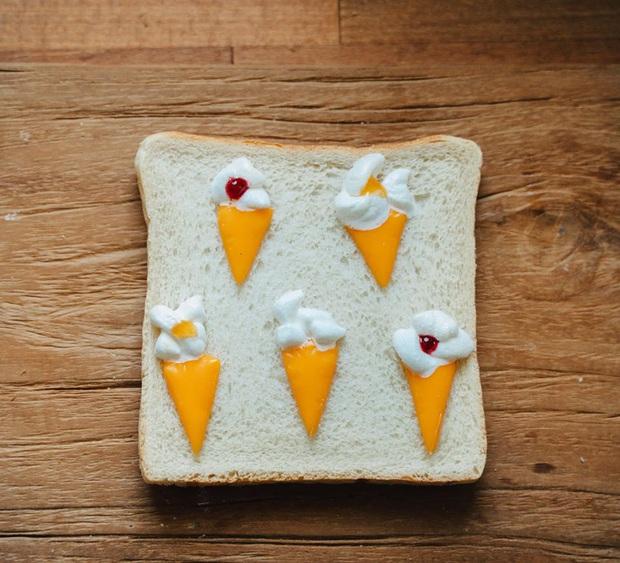 Ngán ăn sandwich theo cách bình thường, cô nàng 9X sáng tạo vẽ tranh lên bánh mì cực xinh xắn nhưng lại vô cùng dễ làm - Ảnh 6.