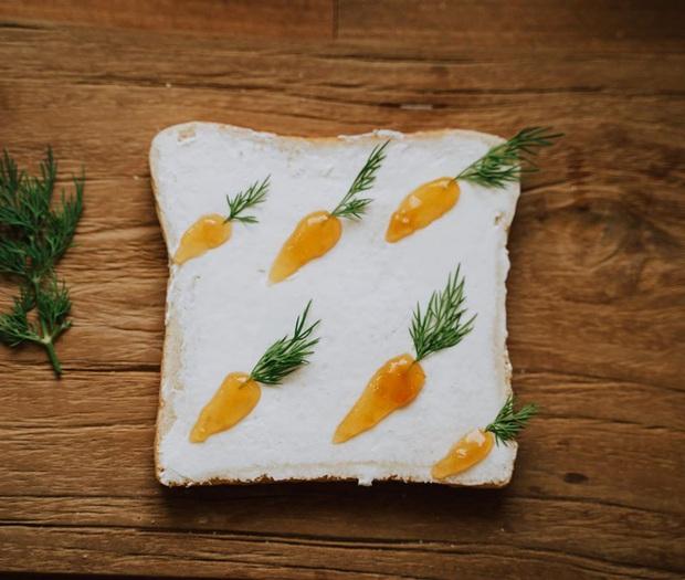 Ngán ăn sandwich theo cách bình thường, cô nàng 9X sáng tạo vẽ tranh lên bánh mì cực xinh xắn nhưng lại vô cùng dễ làm - Ảnh 3.