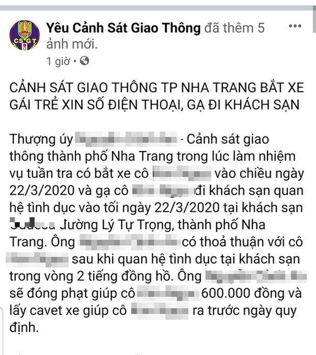 Khánh Hòa xác minh thông tin CSGT gạ tình người vi phạm giao thông - Ảnh 1.