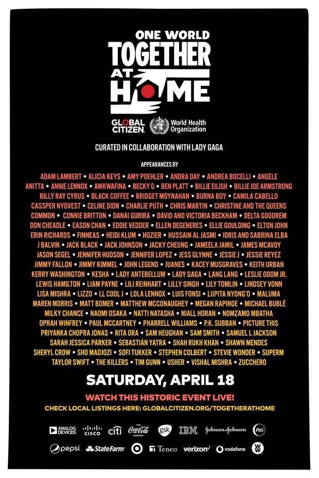 Đặt báo thức để đón xem buổi livestream lớn nhất lịch sử One World: Together At Home với sự tham dự của các ngôi sao đình đám nhất thế giới! - Ảnh 1.