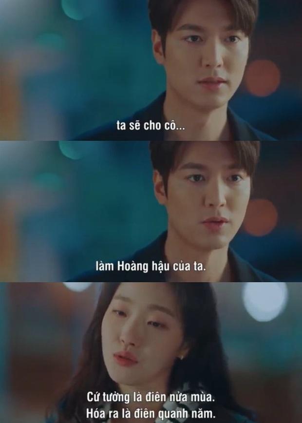 Loạt phát ngôn đi vào lòng đất của Lee Min Ho ở Quân Vương Bất Diệt: Anh đây không điên nửa mùa mà là quanh năm nhé! - Ảnh 11.