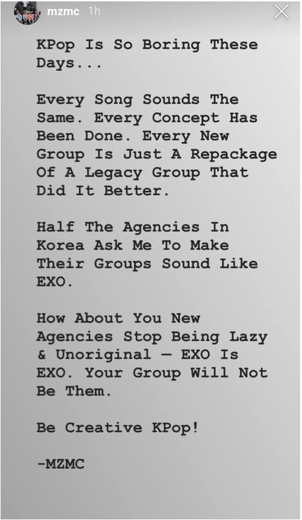 Producer nhà SM chê nhạc Kpop ngày càng chán, đạo nhái nhiều và tiết lộ được các công ty yêu cầu sáng tác ca khúc giống hit của EXO - Ảnh 1.