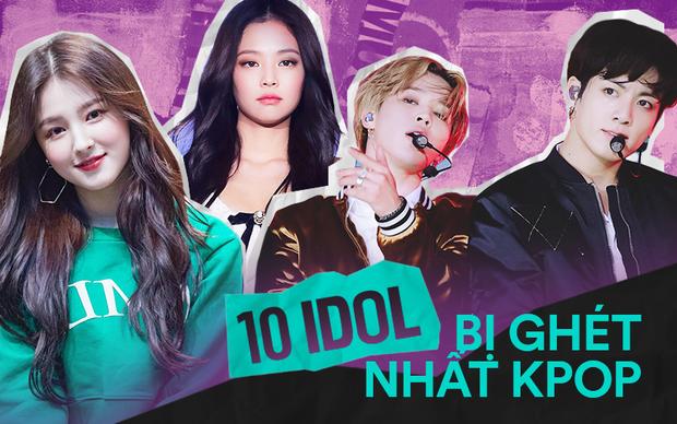 10 idol bị ghét nhất Kpop: Jennie và IU bị chỉ trích vì ồn ào liên hoàn, oan ức nhất là dàn em út BTS và Red Velvet - Ảnh 2.