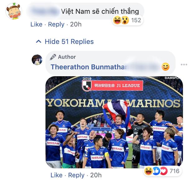 Fan bình luận Việt Nam chiến thắng, hậu vệ tuyển Thái Lan cùng CĐV nhà phản dame cực gắt, Văn Hậu cũng bị vạ lây - Ảnh 1.