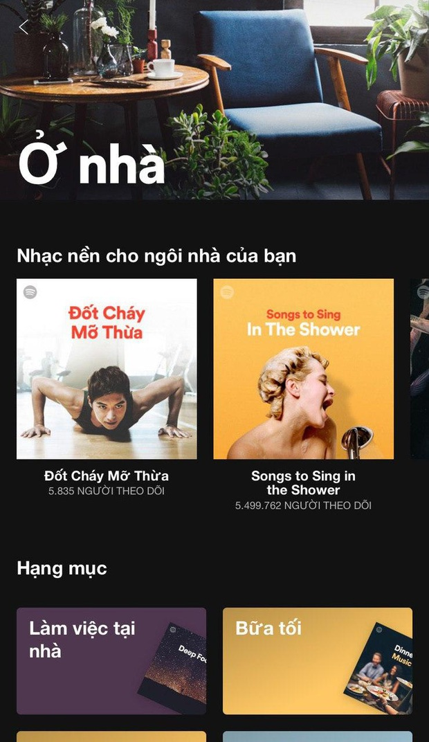 Ở nhà chẳng chán khi Spotify tâm lý mức này: Lập 1500 list nhạc cho bạn nghe đủ lúc ăn, ngủ, chill cho đến lúc tắm, từ nhạc Việt, Hàn, Anh Mỹ đều đủ cả! - Ảnh 1.