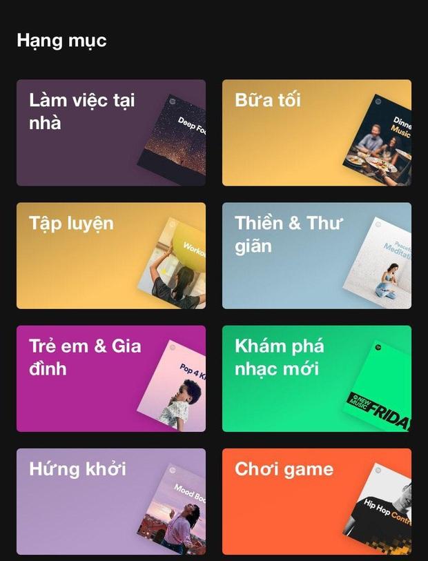 Ở nhà chẳng chán khi Spotify tâm lý mức này: Lập 1500 list nhạc cho bạn nghe đủ lúc ăn, ngủ, chill cho đến lúc tắm, từ nhạc Việt, Hàn, Anh Mỹ đều đủ cả! - Ảnh 2.