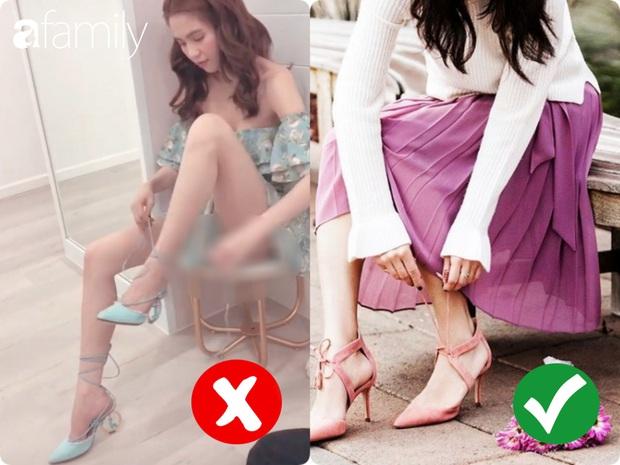 Ngọc Trinh bị chê kém duyên khi ngồi thử giày, các chị em chớ có mắc lỗi này khi mặc váy ngắn! - Ảnh 1.