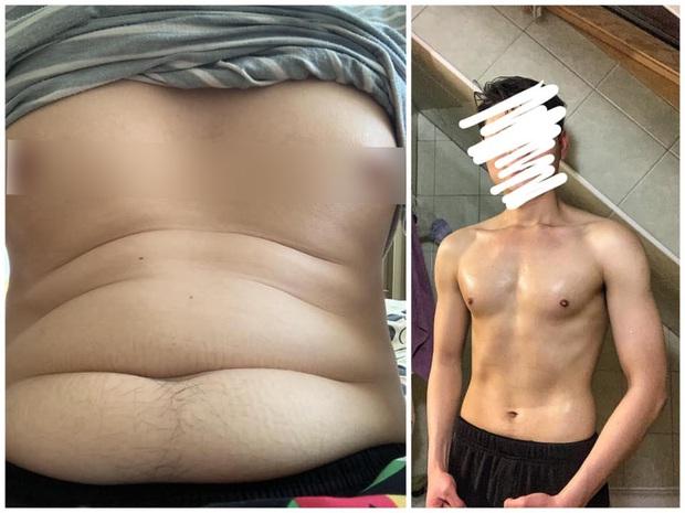 Bụng mỡ hóa phẳng lì, chàng trai Thái Bình giảm 10kg chỉ trong 6 tháng - Ảnh 4.