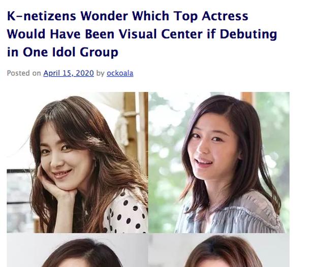 Hot nhất MXH Hàn hôm nay: Song Hye Kyo, Kim Tae Hee, Son Ye Jin và 2 minh tinh này debut thành girlgroup Kpop, ai sẽ là center? - Ảnh 2.