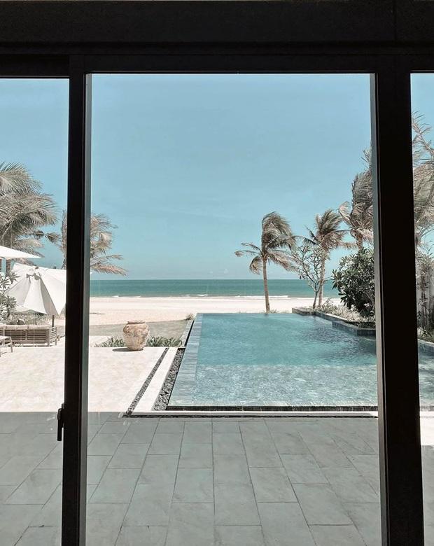 Vợ chồng Bảo Thy thuê hẳn khu villa kế biển sang chảnh, giá phòng cực đắt nhưng tuyên bố hết cách ly mới về! - Ảnh 5.