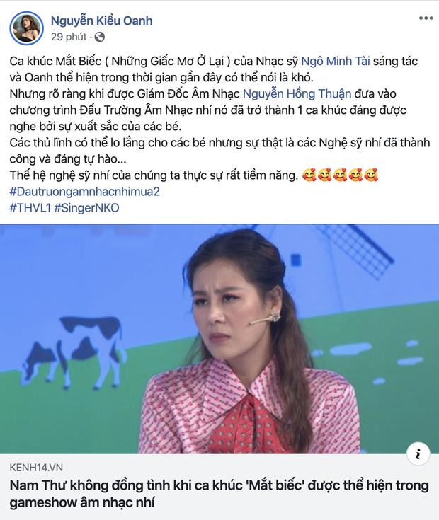 Nguyễn Hồng Thuận lên tiếng khi bị Nam Thư phản ánh chọn nhạc quá khó trong gameshow nhí - Ảnh 5.