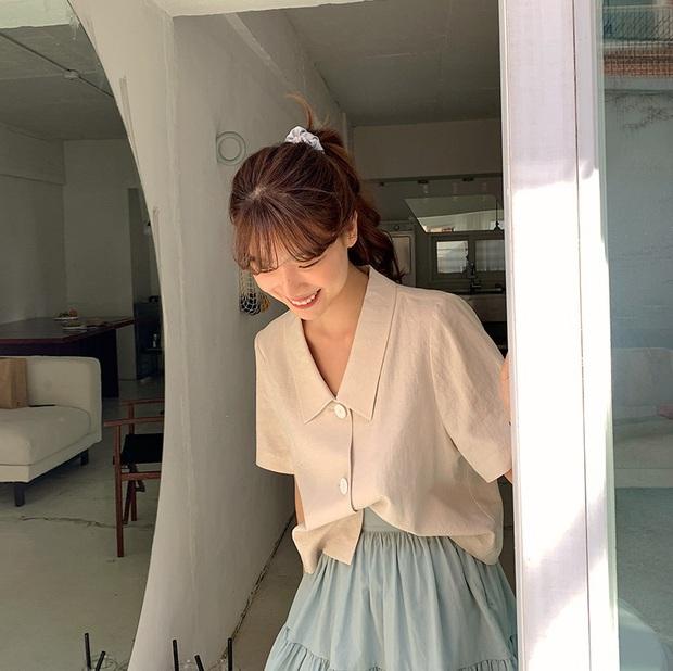 Dạo này Park Min Young rất chịu khó hồi teen với dây buộc tóc vải hot hit, nàng tuổi băm rén gì mà không bắt chước - Ảnh 6.
