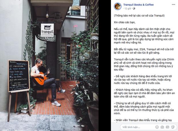 Hàng quán ăn uống Hà Nội - Sài Gòn sáng ngày đầu tiên nới lỏng giãn cách xã hội: Ít nơi mở cửa, còn lại vẫn im lìm hoặc chỉ bán online - Ảnh 4.