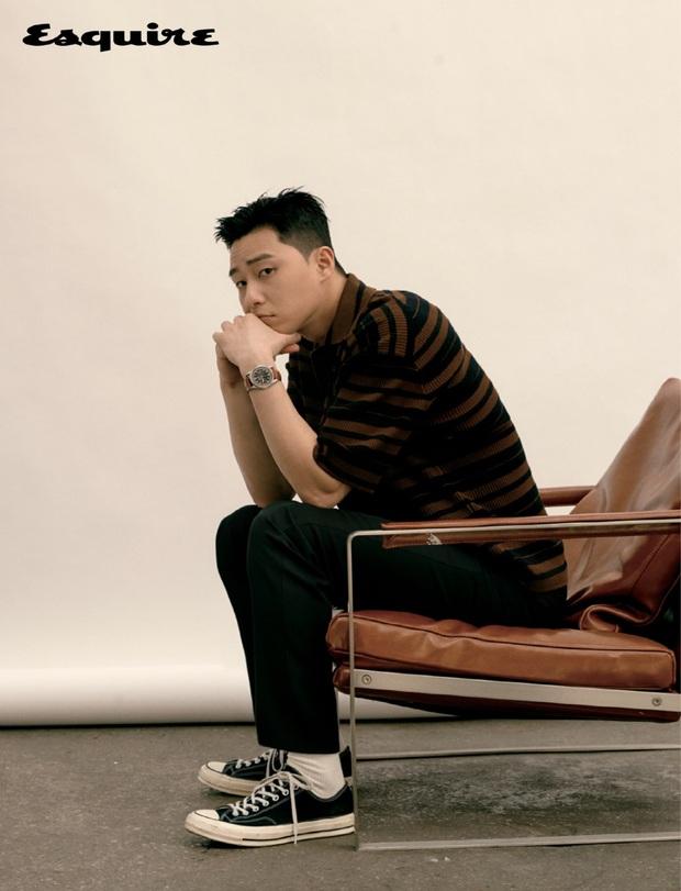Ông chủ Danbam Park Seo Joon cuối cùng đã từ bỏ đầu hạt dẻ, lột xác trên bìa tạp chí: Thế này chị em sống sao? - Ảnh 5.