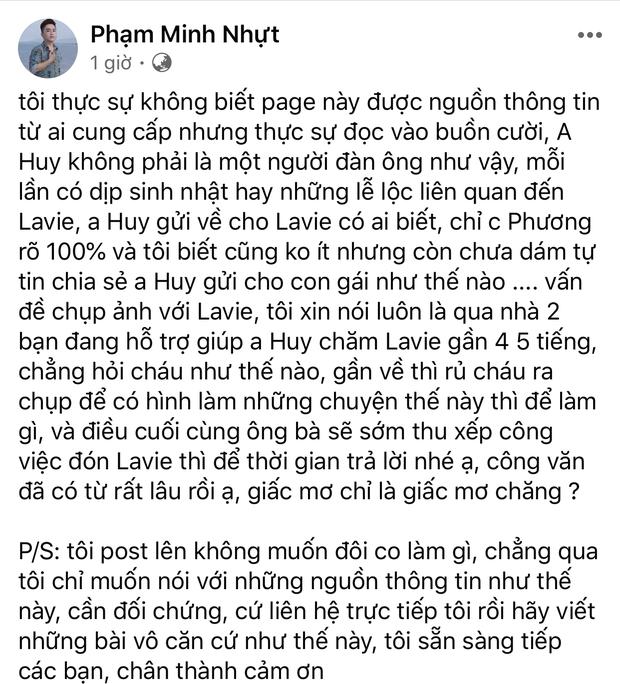 Phùng Ngọc Huy bị đồn 6 năm chu cấp cho bé Lavie 12-13 triệu, cựu quản lý Mai Phương lên tiếng - Ảnh 2.