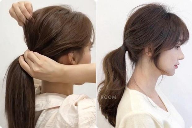 Buộc tóc đuôi ngựa thôi mà vẫn giấu được trán dô, hói, mặt béo tròn... chỉ nhờ lợi dụng vài lọn tóc mai - Ảnh 6.