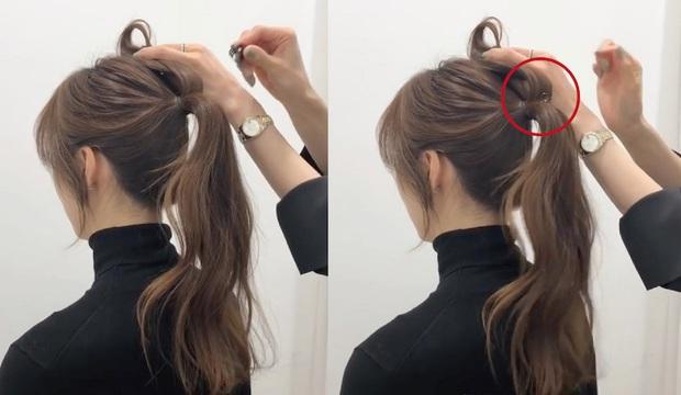 Buộc tóc đuôi ngựa thôi mà vẫn giấu được trán dô, hói, mặt béo tròn... chỉ nhờ lợi dụng vài lọn tóc mai - Ảnh 7.
