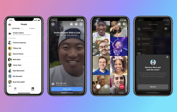 Facebook nay cũng đối đầu Zoom: Ra mắt tính năng gọi video Messenger Rooms tối đa tận 50 người - Ảnh 1.