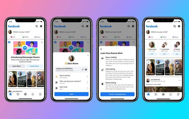 Facebook nay cũng đối đầu Zoom: Ra mắt tính năng gọi video Messenger Rooms tối đa tận 50 người - Ảnh 3.