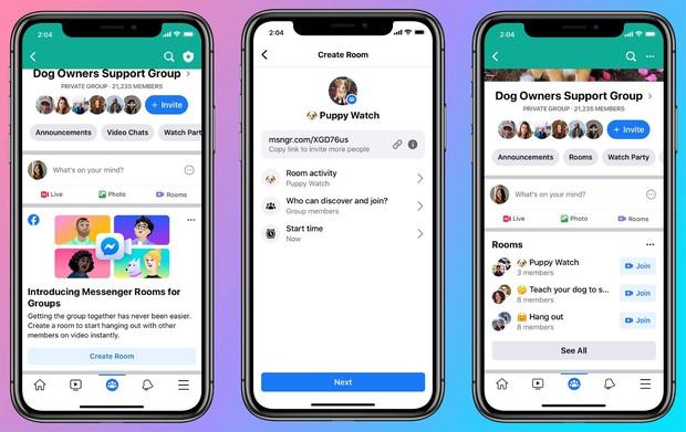 Facebook nay cũng đối đầu Zoom: Ra mắt tính năng gọi video Messenger Rooms tối đa tận 50 người - Ảnh 2.