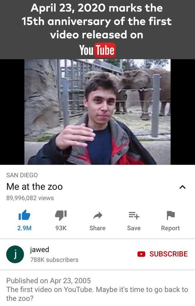 Chủ nhân đoạn video đầu tiên lên Youtube cách đây 15 năm hiện giờ có cuộc sống khiến ai cũng ngỡ ngàng với những điều có 1-0-2 - Ảnh 1.