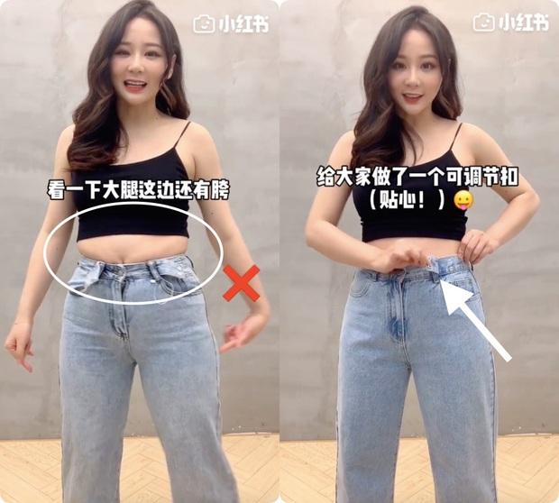 Đây chính xác là chiếc quần jeans ma thuật mà bất kỳ cô nàng bụng béo nào cũng khao khát - Ảnh 1.