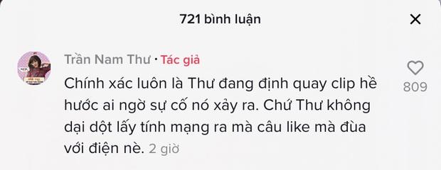 Nam Thư tung clip gặp sự cố nổ dây điện khi đang sấy tóc ở nhà, khiến cả dàn sao Việt phát hoảng  - Ảnh 4.