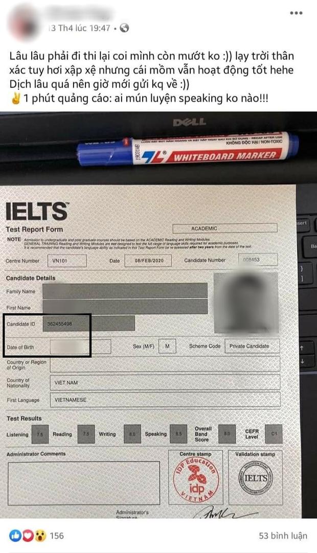 Thêm giáo viên ngoại ngữ photoshop bảng điểm thành 8.0 IELTS phải ngừng dạy, trả lại tiền cho học viên - Ảnh 1.