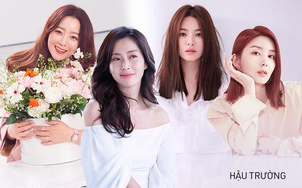 Hội bạn thân quyền lực chỉ toàn mỹ nhân của Song Hye Kyo: Ai cũng hôn nhân viên mãn, ông xã toàn là người máu mặt, chỉ riêng nàng em út mang danh bị chồng bỏ - Ảnh 1.