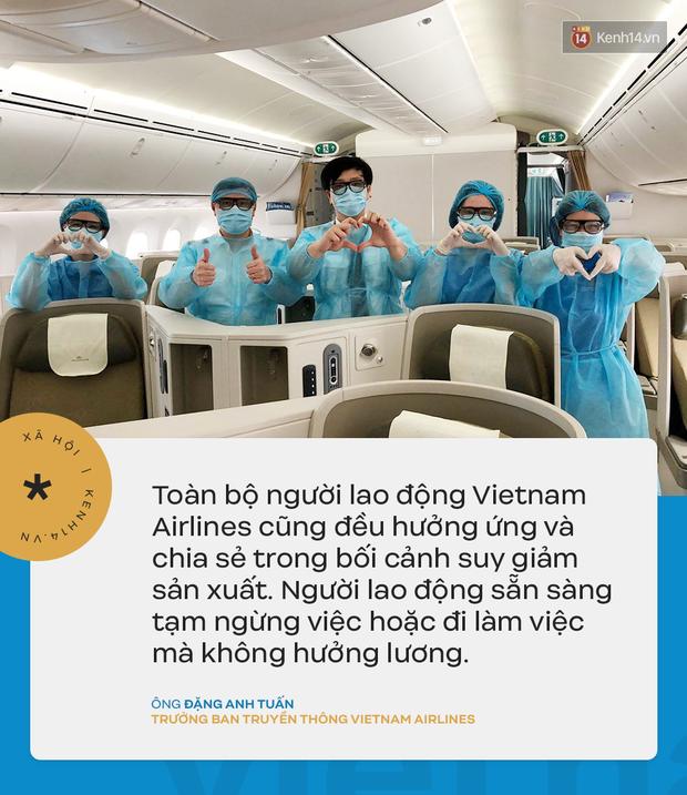 Đại diện Vietnam Airlines: Toàn bộ người lao động sẵn sàng tạm ngừng việc hoặc đi làm mà không hưởng lương - Ảnh 4.