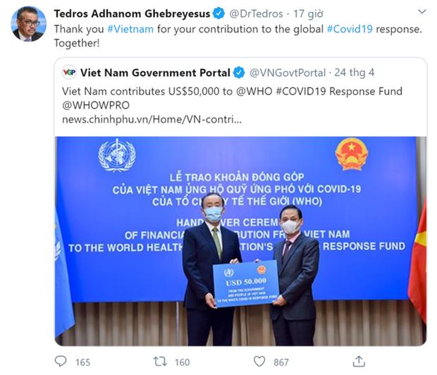 TGĐ WHO: Cảm ơn Việt Nam vì những cống hiến cho phản ứng Covid-19 toàn cầu! - Ảnh 1.