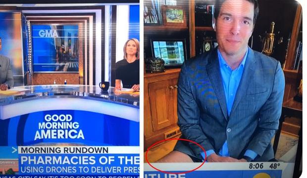 Giấu đầu hở đuôi: Phóng viên Mỹ gặp sự cố tai hại ngay trên sóng truyền hình trực tiếp khi bị soi đang ở trong trạng thái không mặc quần - Ảnh 2.