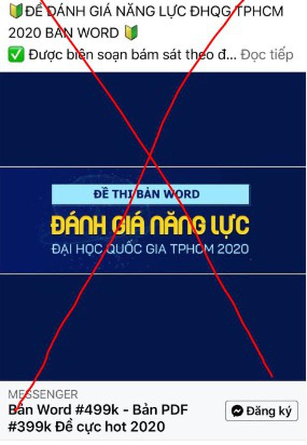 Nhiều trường hợp giả mạo Đại học Quốc gia TP.HCM để bán tài liệu ôn thi Đánh giá năng lực - Ảnh 1.