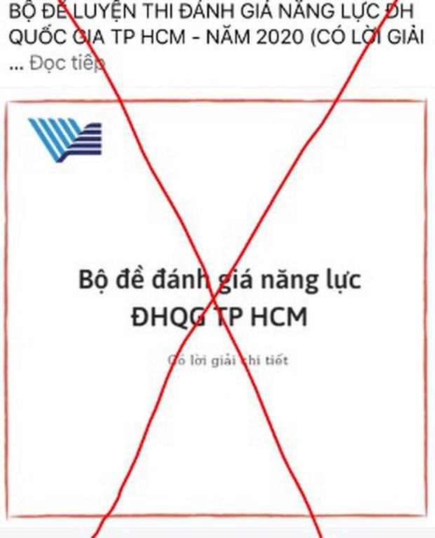 Nhiều trường hợp giả mạo Đại học Quốc gia TP.HCM để bán tài liệu ôn thi Đánh giá năng lực - Ảnh 2.