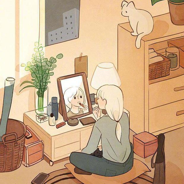 Bộ tranh: Con gái thường làm gì lúc ở nhà một mình? - Ảnh 3.