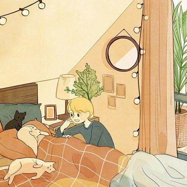 Bộ tranh: Con gái thường làm gì lúc ở nhà một mình? - Ảnh 15.