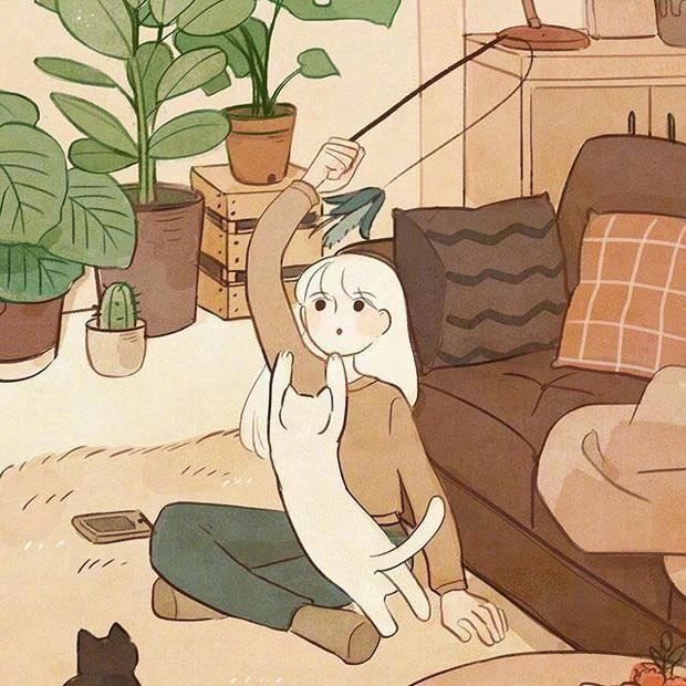 Bộ tranh: Con gái thường làm gì lúc ở nhà một mình? - Ảnh 9.