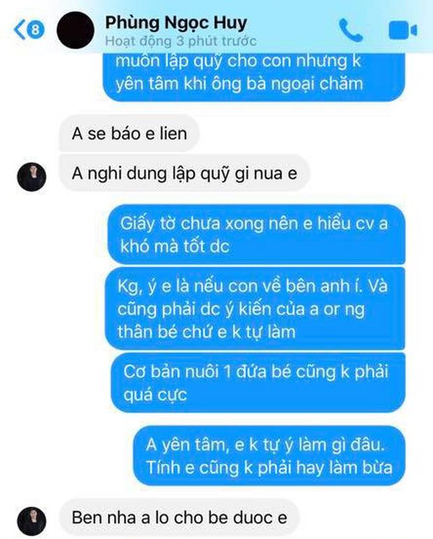 Tiết lộ tin nhắn Phùng Ngọc Huy lên tiếng về việc nuôi dưỡng bé Lavie - Ảnh 3.