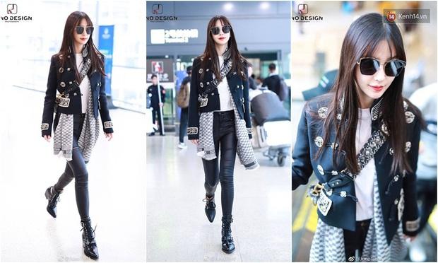 Thời trang sân bay của sao Hoa Hàn cũng lắm drama: Từ thuê người chụp, photoshop chán chê cho tới thay n bộ làm màu - Ảnh 3.