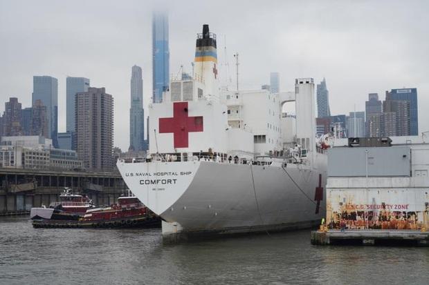 Tàu bệnh viện 1.000 giường tới New York nhưng không chữa cho người mắc Covid-19 - Ảnh 2.