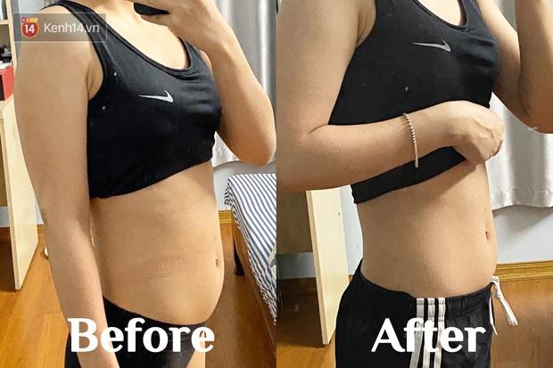 Trải nghiệm Chloe Ting Challenge trong 2 tuần: 9x Hà Nội giảm được 1,2kg với đường cơ bụng săn khỏe rõ rệt - Ảnh 9.