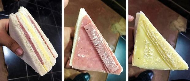 """Tưởng mua được ổ bánh sandwich """"xịn sò"""" giá rẻ như cho, chàng trai Thái Lan vừa ăn vừa sợ miếng thịt… bị gió thổi bay mất! - Ảnh 4."""