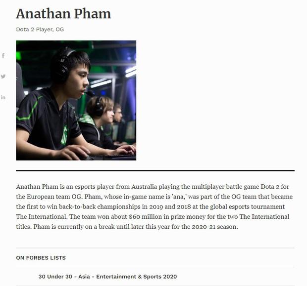 Game thủ Dota 2 gốc Việt bất ngờ lọt top danh sách 30 Under 30 của Forbes Châu Á - Ảnh 3.