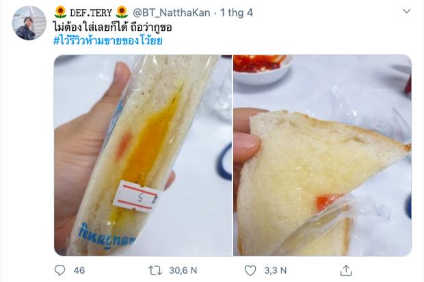 """Tưởng mua được ổ bánh sandwich """"xịn sò"""" giá rẻ như cho, chàng trai Thái Lan vừa ăn vừa sợ miếng thịt… bị gió thổi bay mất! - Ảnh 1."""
