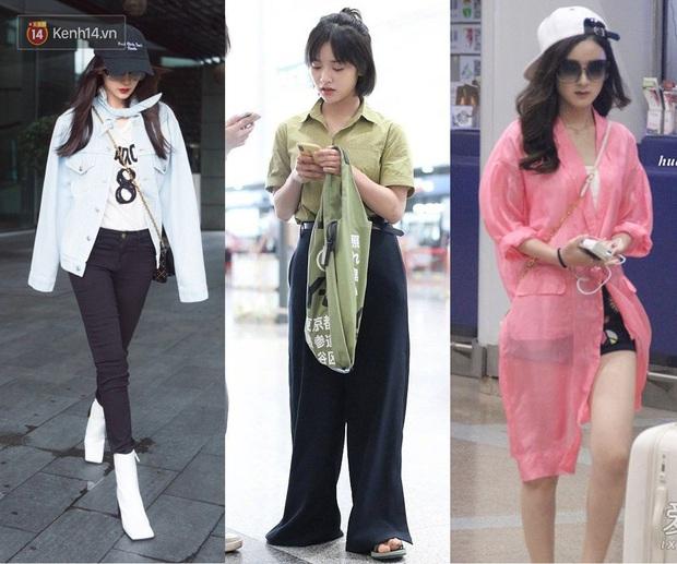 2 thái cực thời trang sân bay của sao Hoa ngữ: Người biến sân bay thành runway, người diện hàng hiệu như hàng chợ - Ảnh 1.