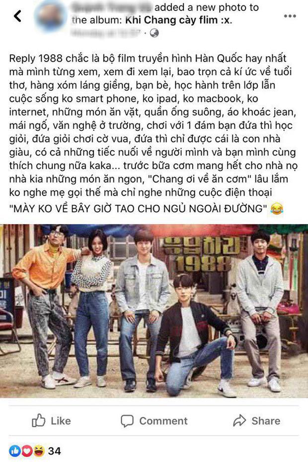 Netizen Việt bồi hồi nhớ nhung Reply 1988 sau 4 năm gây bão Hàn Quốc, leo thẳng top 3 Netflix giữa mùa ở nhà cày phim - Ảnh 7.