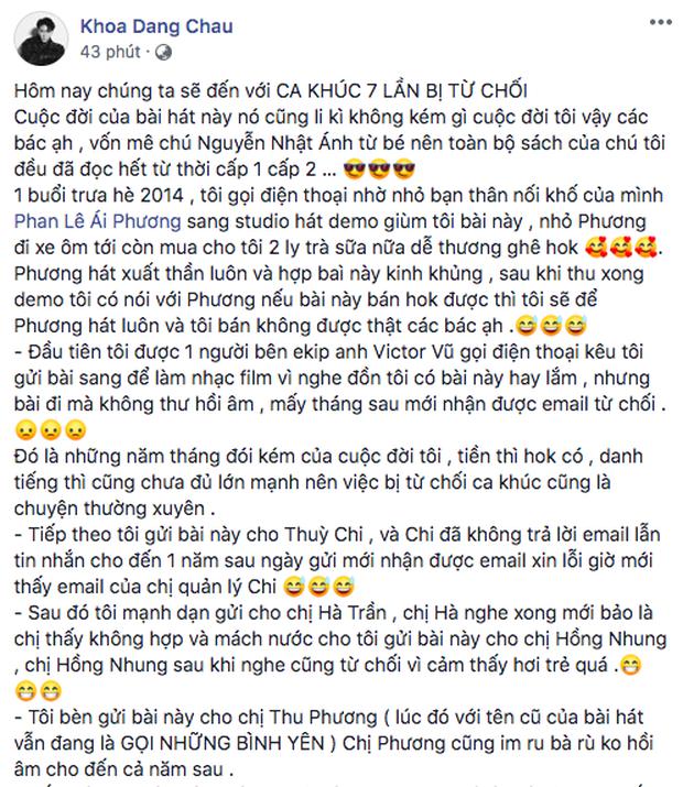 Tôi Thấy Hoa Vàng Trên Cỏ Xanh từng bị 3 Diva làng nhạc Việt lẫn Thùy Chi từ chối nhưng lại làm nên tên tuổi của nữ ca sĩ vốn chỉ hát bản demo? - Ảnh 1.