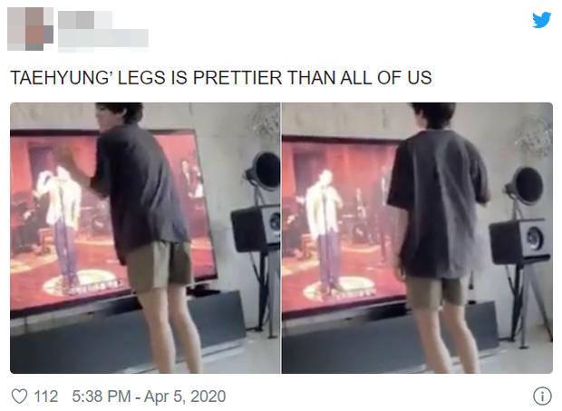 """Quá """"vã"""" diễn trên sân khấu, V (BTS) liền nhảy trước TV nhưng lại lên top trending nhờ… đôi chân khiến fan """"GATO"""" đỏ mắt - Ảnh 5."""