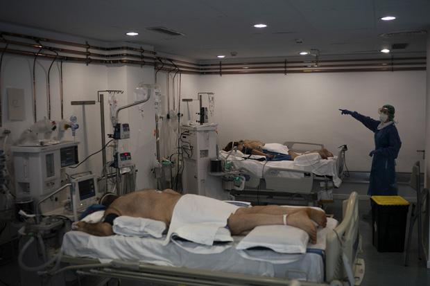 Phòng điều trị cho người nhiễm Covid-19 ở Tây Ban Nha: Căng thẳng tột độ, hơn phân nửa bệnh nhân phải nằm sấp với tình trạng lành ít dữ nhiều - Ảnh 6.